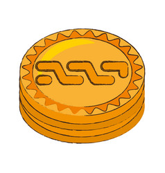 Nxt coin cryptocurrency stack icon vector