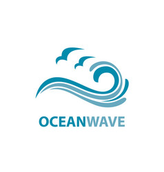 Ocean wave logo vector
