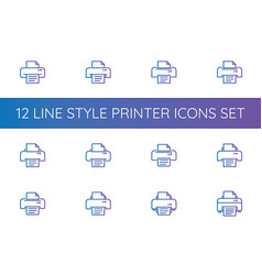 Printer symbol icon pixel perfect outline line vector