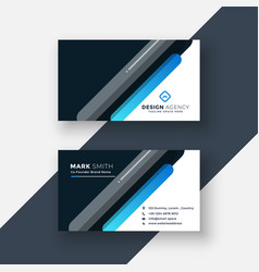 Professional dark business card in creative style vector