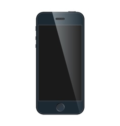 Realistic black mobile iphone with blank screen vector image
