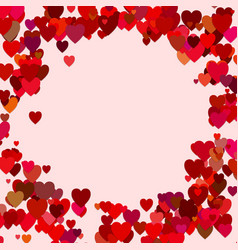Red random heart background design - love graphic vector
