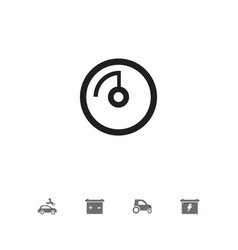 Set of 5 editable car icons includes symbols such vector