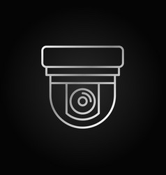 silver security surveillance camera linear icon vector image