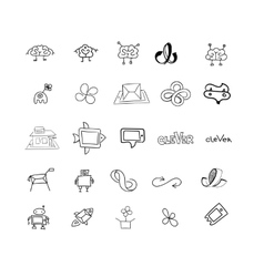 Sketches for logos or icons vector image