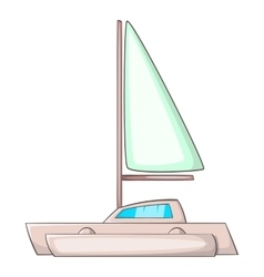 Small boat icon cartoon style vector