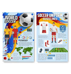 Soccer football game infographics vector