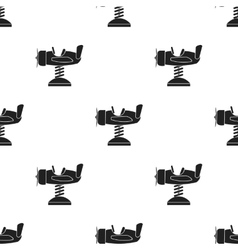 Spring plane icon in black style isolated on white vector