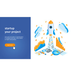 start up project banner 02 vector image