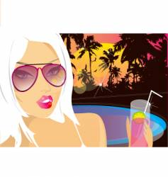 Summer nights chill vector