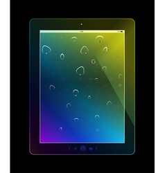 Tablet pc on black background vector image