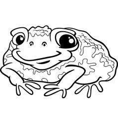 Toad cartoon coloring page vector