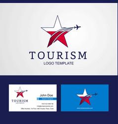 Travel poland flag creative star logo and vector