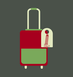 Travel suitcase for camping tourism cartoon vector