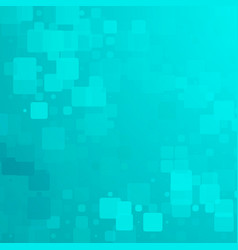 Turquoise green glowing rounded tiles background vector