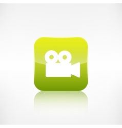 Video camera web icon Application button vector