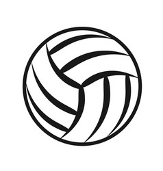 Volleyball ball sports activity play competition vector
