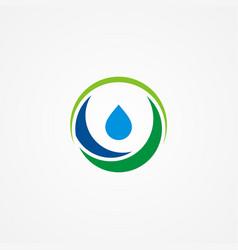 water drop ecology logo vector image
