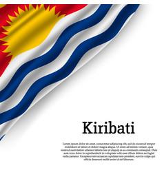 waving flag of kiribati vector image