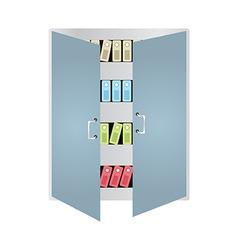 Books Locker vector image