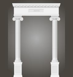 classic antique portal vector image
