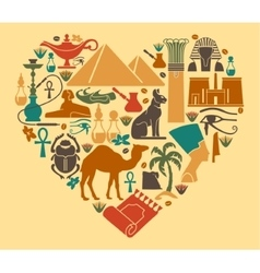 Egyptian symbols vector image vector image