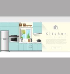 Interior design Modern kitchen background 6 vector image