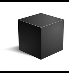 realistic cube vector image vector image