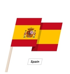 Spain Ribbon Waving Flag Isolated on White vector image vector image