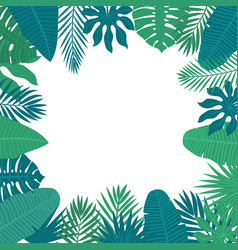 abstract background with tropical leaves floral vector image