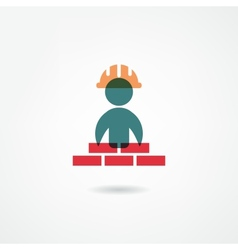 builder icon vector image