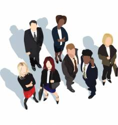 business partners shadows vector image vector image