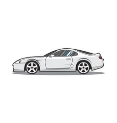 Cartoon japan sport car side view vector
