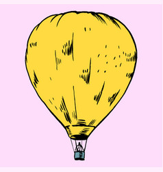 hot air baloon vector image vector image