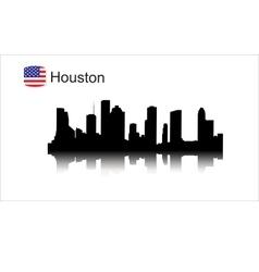 Houston silhouette vector image