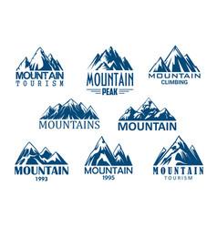 mountain peak icon for outdoor adventure design vector image