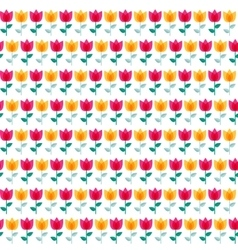 Paper Trendy Flat Flower Seamless Pattern vector image vector image