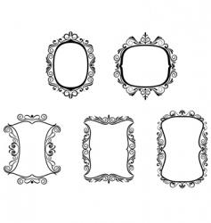 set of vintage frame vector image