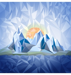 Stylized landscape with mountains vector image