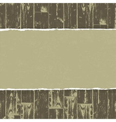torn paper on wooden background vector image vector image