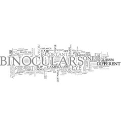 What would you use binoculars for text word cloud vector