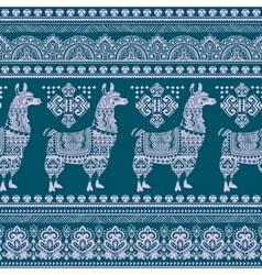 Alpaca Llama animal seamless pattern vector image