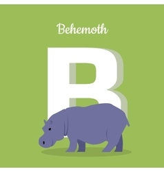Animals Alphabet Letter - B vector image vector image