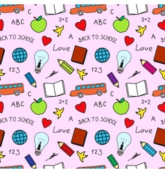 Back to School Seamless Texture vector image vector image