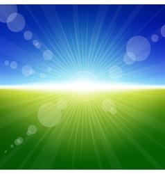 Daylight summer background vector image