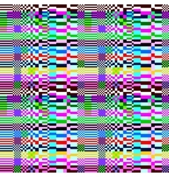 Glitch abstract pattern vector image