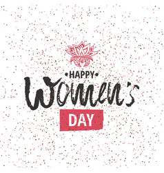 happy international women s day on march 8th vector image