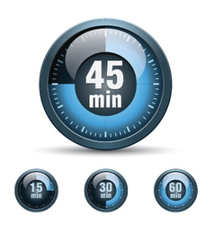 Set of timer clock vector image