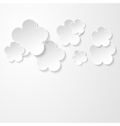 white floral background vector image