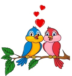 Birds with love vector image vector image